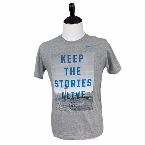 Nike Gray Keep The Stories Alive Graphic Tee
